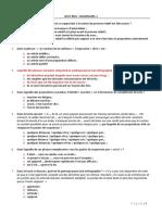 QCM2015 Grammaire 1 40Q