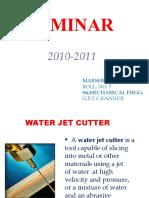 Waterjet Cutting Ppt