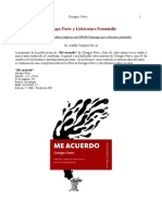 DR. ADOLFO VASQUEZ ROCCA _ SEMBLANZA Y RESEÑA DE GEORGES PERÈC _ LITTÉRATURE POTENTIELLE