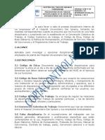 GTB-P-03 Procedimiento del para el manejo disciplinario en el HUSI