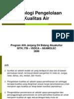 1 Teknologi Pengelolaan Kualitas Air Kualitas Air Dan Pengukurannya