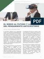 El miedo al futuro y las fallas del pensamiento anticipatorio. Cuadernos de Escenarios Prospectivos - Numero 2 - Issac Enriquez Perez