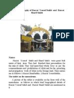 The brief Biography of Hazrat Yousuf Sahib and Hazrat Sharif Sahib