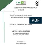 AVANCE 29 MAYO LIBRETA DE DISEÑO DE ELEMENTOS MECANICOS