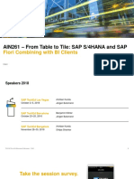 AIN261_From Table to Tile- SAP S4HANA and SAP Fiori UX Combining with BI Clients