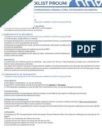 Checklist Prouni Wyden