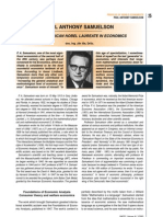 Contribution of Paul a Samuelson to the World of Economics