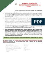 Normas Generales, Material y Consejos Para La EBAU 2020