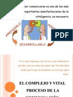 EL COMPLEJO Y VITAL PROCESO DE LA COMUNICACIÓN