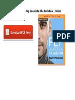 Pep Guardiola the Evolution