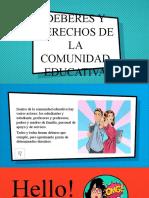 DEBERES Y DERECHOS DE LA COMUNIDAD EDUCATIVA