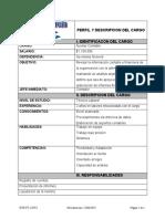 Perfil y Descripcion de Cargo
