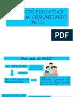 PEIC presentación en láminas para su creación