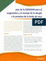 Guias ESPGHAN Dx y tto APLV