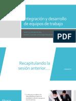 Integración y desarrollo de equipos de trabajo sesión 3