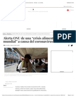 "Alerta ONU de una ""crisis alimentaria mundial"" a causa del coronavirus - Mundo - La Jornada"