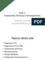 Aula 7 - Tratamentos Térmicos e Termoquímicos