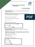 FICHA PARA AVALIAÇÃO DE CONSCIÊNCIA FONOLÓGICA
