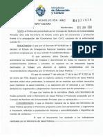 Protocolo Ministerio de Educación y Cultura.