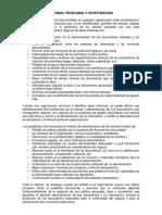 SINTOMAS PROBLEMAS Y OPORTUNIDADES - GESTION DOCUMENTOS EMPRESAS