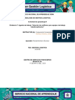 EVIDENCIA 7; AGENDA DE TRABAJO SOLUCION DE CONFLICTOS