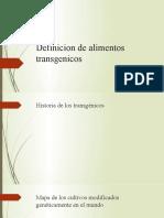 Definicion de alimentos transgenicos