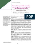 FACTORES DE RIESGO FABRICA DE REFRIGERADORES