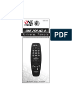 Manual Urc7540 English