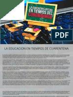 LA EDUCACION EN TIEMPOS DE CUARENTENA