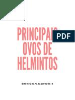 PRINCIPAIS OVOS DE HELMINTOS