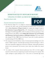 Meristem Equity Research Report- First Aluminium Plc