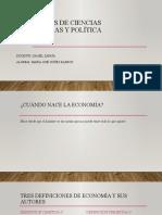 Conceptos de ciencias económicas y política