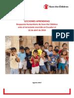 SCI Lecciones aprendidas terremoto Ecuador