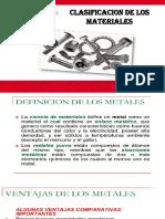 CLASIFIACION DE LOS MATERIALES PROCESOS Y TALLER DE MANUFACTURA MAR. 2020