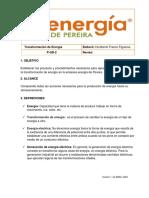 PROCEDIMIENTO GENERACION DE ENERGIA