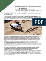 El ADN descubre en Canarias al primer cementerio de esclavos