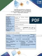 Guía de actividades y rúbrica de evaluación - Fase 3 - Diagnóstico ambiental