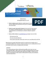 INSTRUCCIONES CONTANDO AVES EN COMUNIDAD
