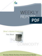 Bullion Commodity Reports for the Week (10th - 14th January - 2011)