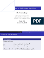 Introduction to the Parareal Algorithm