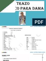 TRAZO DE SACO DAMA - DELANTERO