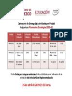 Calendario PES