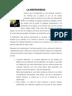 TAREA 2 LA ARBITRARIEDAD RESUMEN TEORIA DEL DERECHO II.docx