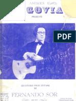 Fernando Sor 20 Estudios Guitarra Andres Segovia