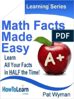 Math Facts Made Easy  Learn All Your Facts in HALF the Time! (Instant Learning Series Book 1)