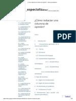 ¿Cómo redactar una columna de opinión_ - redac_especializada