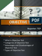 Objective Test Types 50 Slides