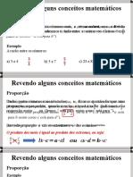 Revendo conceitos básicos da matemática - Razão, proporção e grandezas