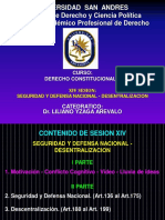 SESION 14 SEGURIDAD Y DEFENSA NACIONAL - DESCENTRALIZACION