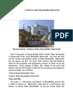 The brief Biography of Hazrat Baba Sharafuddin Saharwardi